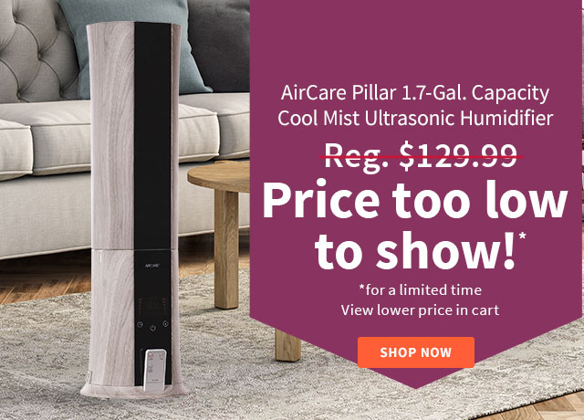 AirCare Pillar Cool Mist Ultrasonic Humidifier
