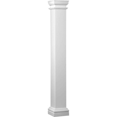 Crown Column Duralite 6 In. x 8 Ft. Smooth White Fiberglass Column