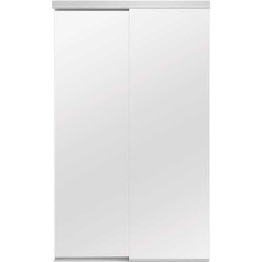 Colonial Elegance Classic 48 In. W x 80-1/2 In. H White Frameless Mirrored Sliding Bypass Door