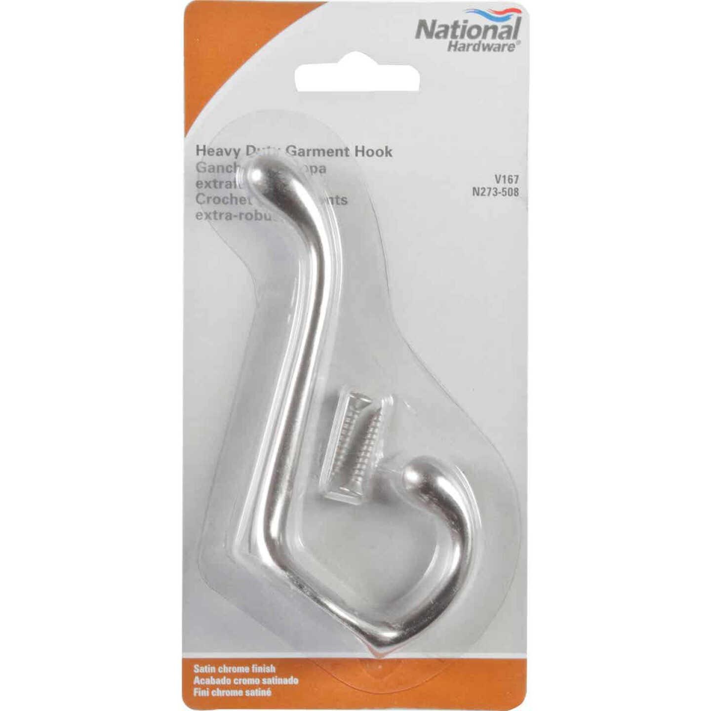 National Heavy-Duty Satin Chrome Wardrobe Hook Image 2