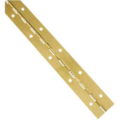 National Steel 1-1/2 In. x 12 In. Bright Brass Continuous Hinge