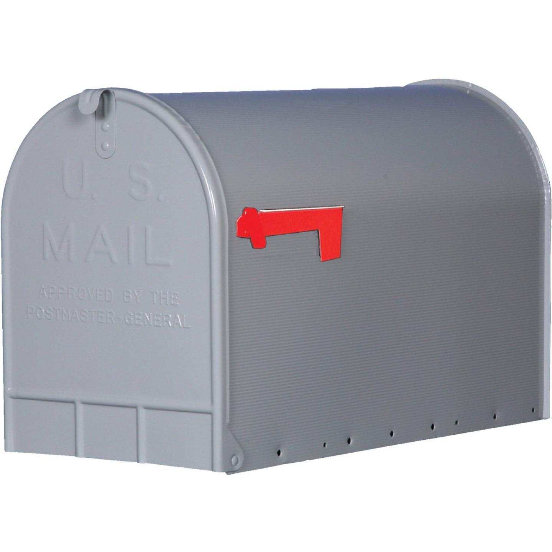 Gibraltar Stanley T3 Gray Steel Rural Post Mount Mailbox Image 1