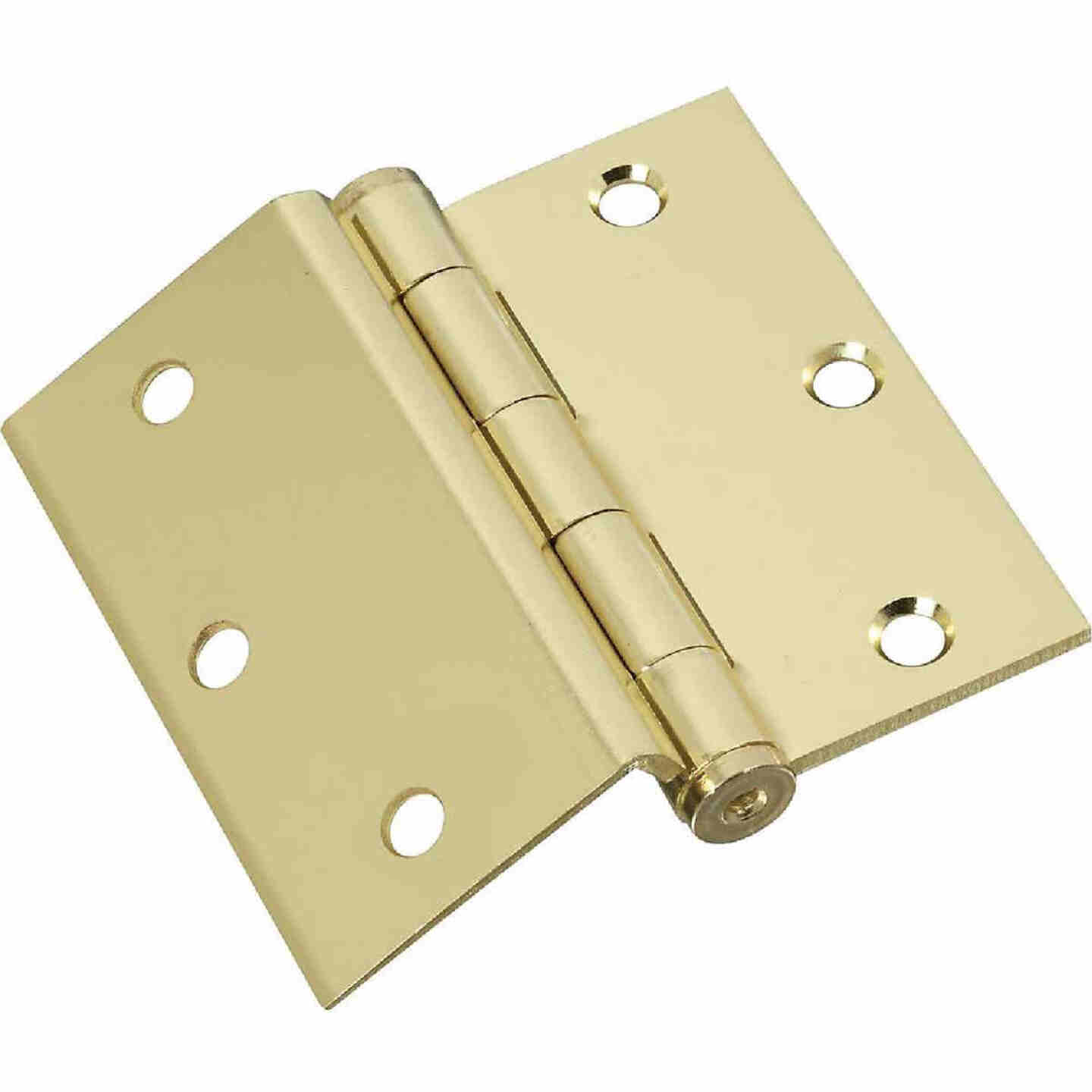 National 3-1/2 In. Square Half Surface Door Hinge (2-Pack) Image 1