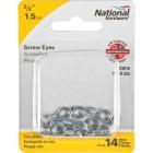 National #214-1/2 Zinc Small Screw Eye (14 Ct.) Image 2