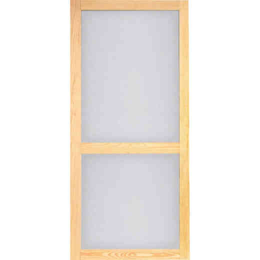 Screen Tight Woodcraft 36 In. W x 80 In. H x 1 In. Thick Natural Wood Screen Door