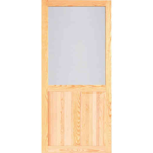 Screen Tight Pioneer 32 In. W x 80 In. H x 1 In. Thick Natural Wood Screen Door