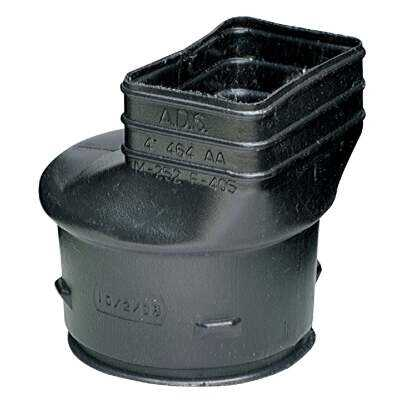 Advanced Drainage Systems 2 In. X 3 In. X 4 In. Polyethylene Corrugated to Downspout Barb X Female Adapter