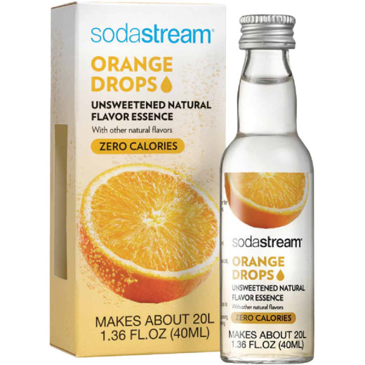 SodaStream 1.36 Oz. Orange Sparkling Water Fruit Drops