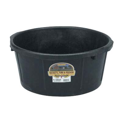 Little Giant Duraflex 6-1/2 Gal. Round Rubber Feed Pan