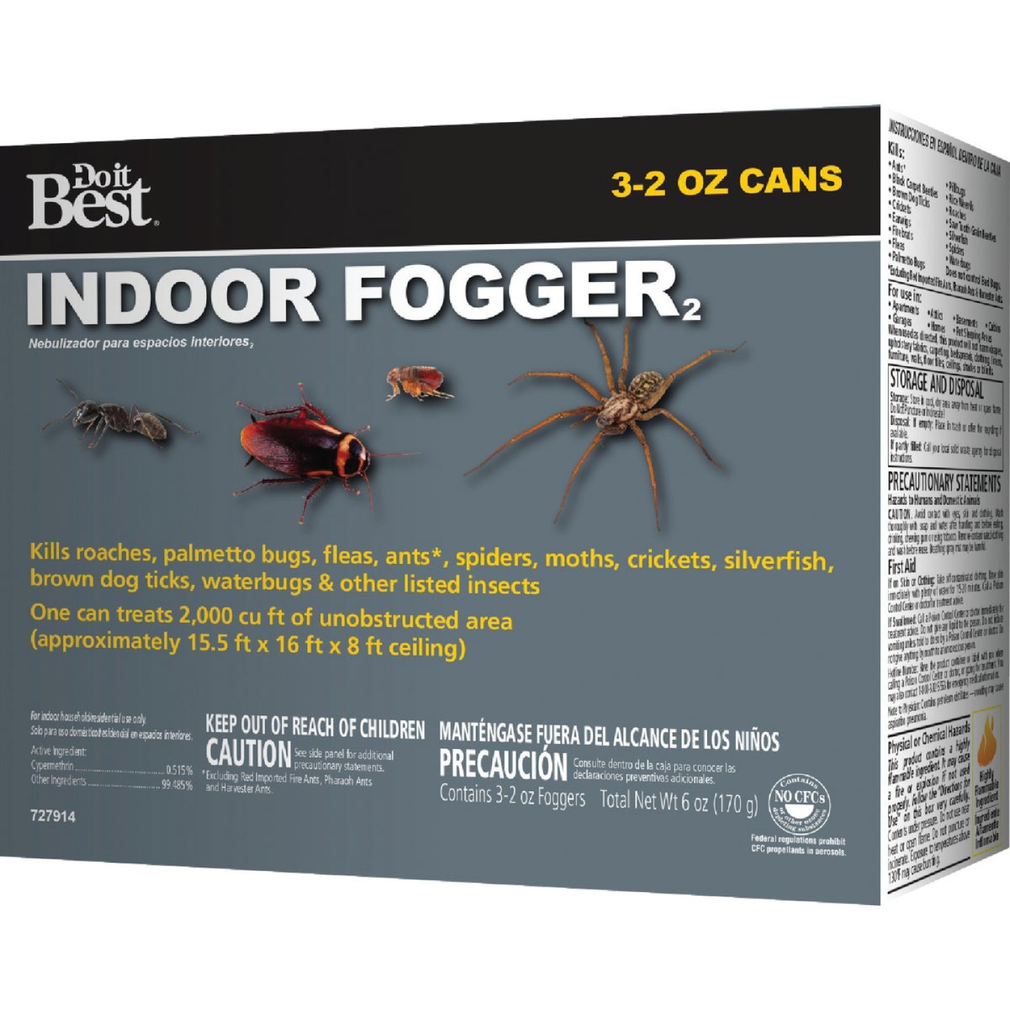 Do it Best 2 Oz. Indoor Insect Fogger (3-Pack) Image 2